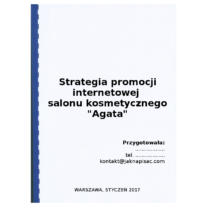 """Strategia promocji internetowej salonu kosmetycznego """"Agata"""""""