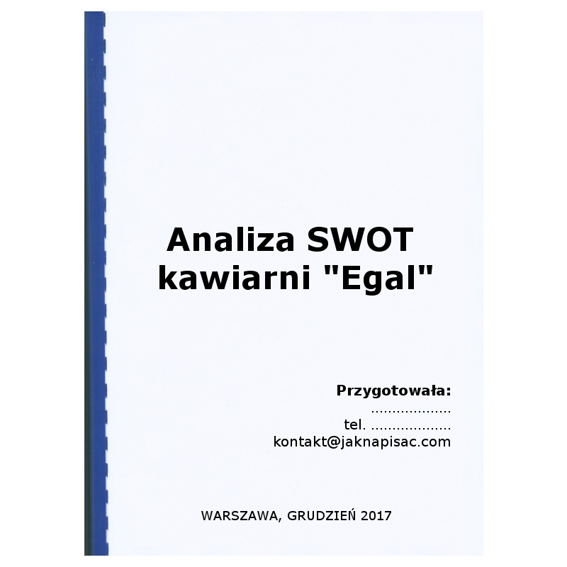 "Analiza SWOT kawiarni ""Egal"""