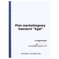 """Plan marketingowy kawiarni """"Egal"""""""