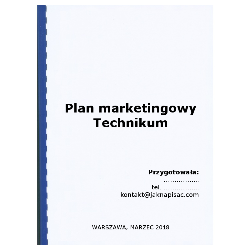 Plan marketingowy Technikum