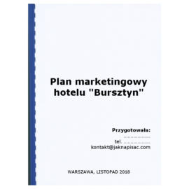 "Plan marketingowy hotelu ""Bursztyn"""