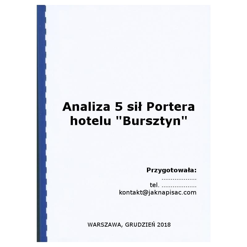 """Analiza 5 sił Portera hotelu """"Bursztyn"""""""