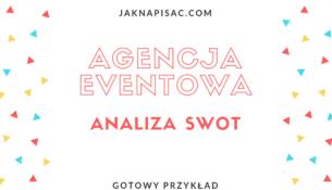 """Analiza SWOT agencji eventowej """"6points"""""""