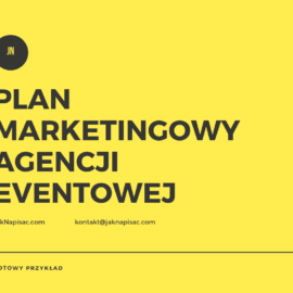 "Plan marketingowy agencji eventowej ""6points"""